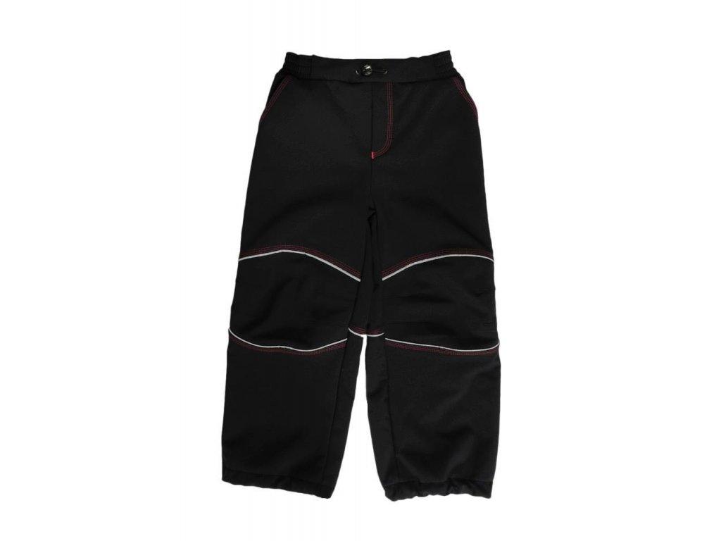 Softshellové kalhoty černé s růžovým prošitím MK Cool