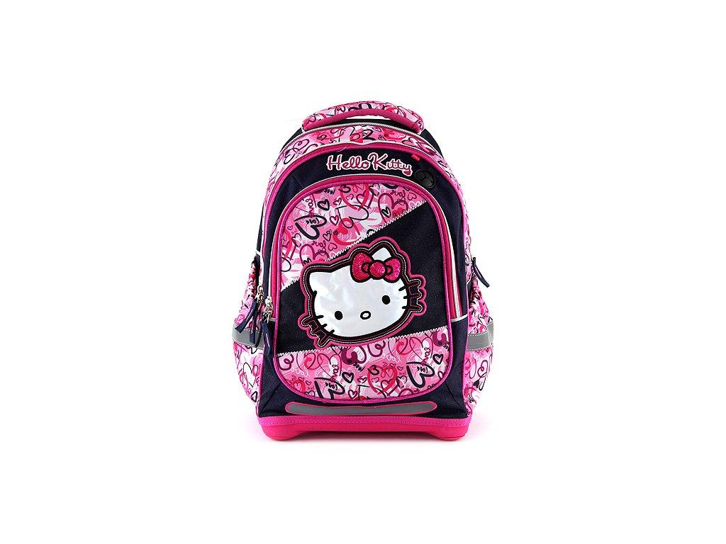 Školní batoh Hello Kitty motiv jeans d51e495f8a