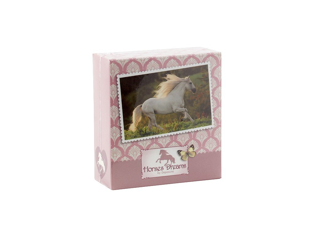 Poznámkový bloček Horses Dreams kůň v běhu