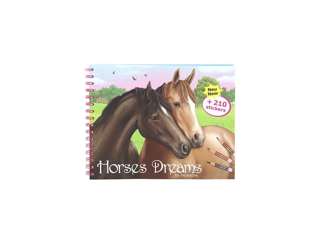 Omalovánky Horses Dreams 210 samolepek
