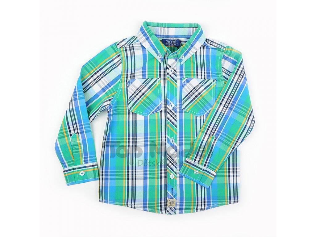 f7bcbdb98db Chlapecká košile Minoti s dlouhým rukávem