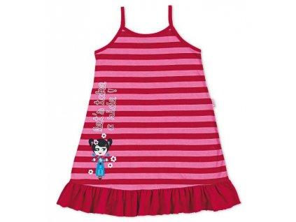Dívčí noční košilka červená