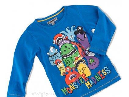 Chlapecké tričko s dlouhým rukávem Monster modré