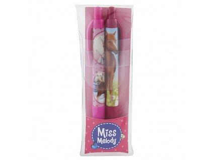 Kuličková pera Miss Melody Růžová, plastové pozdro