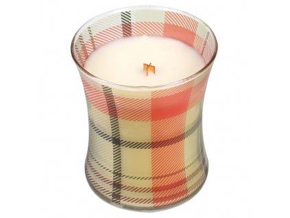 Svíčka oválná váza WoodWick Vůně perníku, 275 g