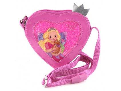 Kabelka My Style Princess Růžová, ve tvaru srdce