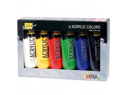 Sada akrylových barev C.Kreul 6ks