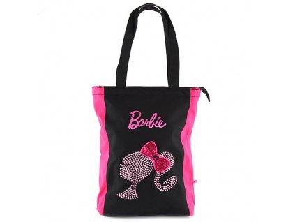 Nákupní taška Barbie růžovo/černá, s motivem panenky Barbie