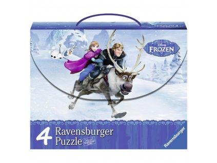Puzzle Ravensburger Ledové království, v kufříku - 500 dílků