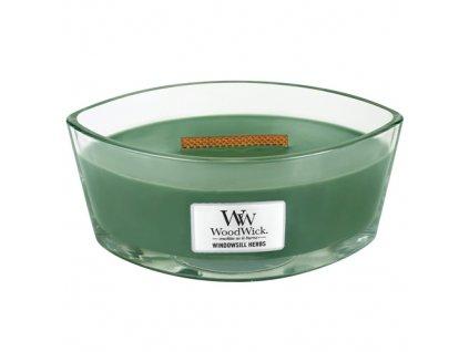 Svíčka dekorativní váza WoodWick Bylinková zahrádka, 453.6 g