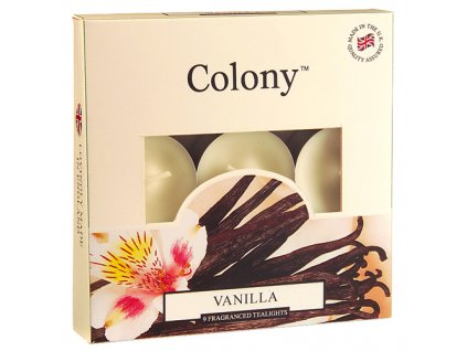 Svíčky čajové Colony Vanilka, 9 ks