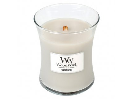 Svíčka oválná váza WoodWick Hřejivá vlna, 275 g