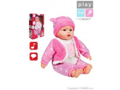 Mluvící a zpívající dětská panenka PlayTo Anička 46 cm
