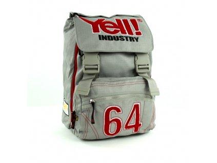 Školní batoh Yell! na přezky šedá