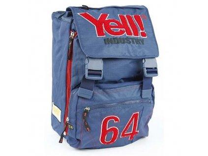 Školní batoh Yell! na přezky modrá