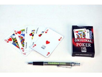 Poker společenská hra karty v papírové krabičce