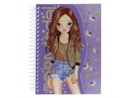 Sešit Top Model Lexy, fialová
