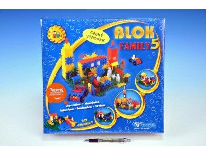 Stavebnice Blok Family 5 plast 242ks v krabici 35x33x10cm
