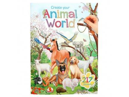 Omalovánky, kreativní sada Create Your Svět zvířat, 217 samolepek