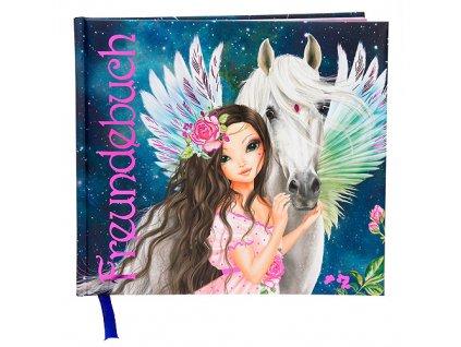 Kniha přátelství Fantasy Model Víla s Pegasem