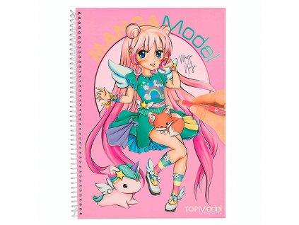 Omalovánky Manga Model Manga Nadja, se samolepkami