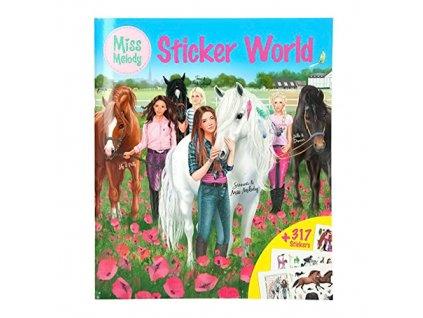 Kreativní sešit Miss Melody Dívky a koně na louce