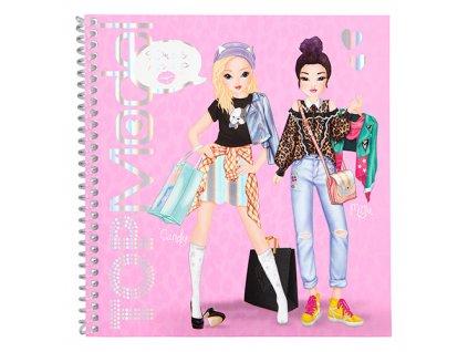 Kreativní sešit Top Model ASST Candy a Miju, se samolepkami