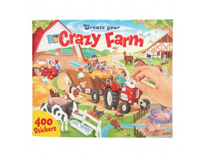 Kreativní sešit Create Your Bláznivá farma, 400 samolepek