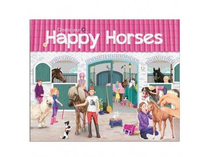 Create Your Kreativní sešit Horses Dreams Happy Horses, se samolepkami