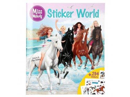 Kreativní sešit Miss Melody Dívky a koně na pláži