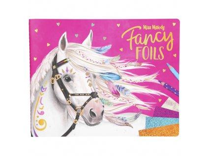 Omalovánky, kreativní sada Miss Melody Fancy Foils