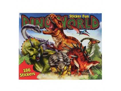 Kreativní sešit Dino World Dinosauři, 186 samolepek