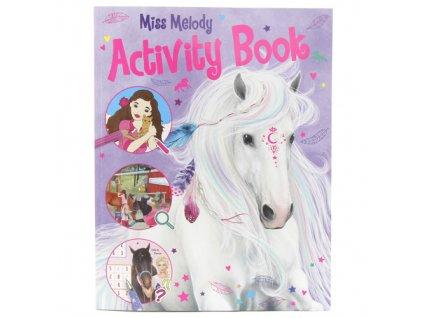 Omalovánky, šešit aktivit Miss Melody Activity Book, s úkoly a labyrinty