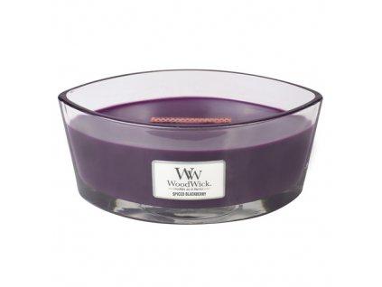 Svíčka dekorativní váza WoodWick Pikantní ostružina, 453.6 g