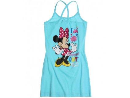 Dívčí letní šaty Minnie tyrkysové DISNEY