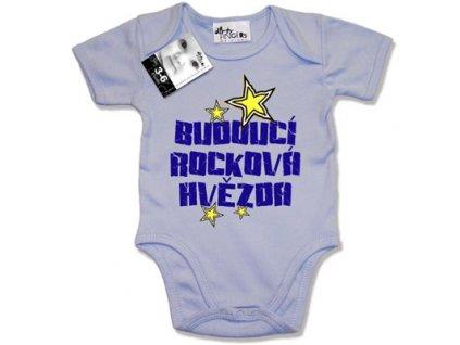 Kojenecké body modré Budoucí rocková hvězda