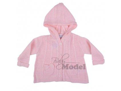 Kojenecký svetr růžový Babaluno