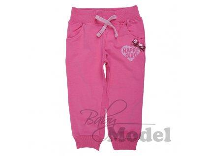 Dívčí tepláky Minoti Happy Girl tmavě růžové