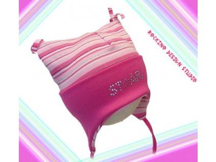 Dětská čepice ROCKINO Star růžová