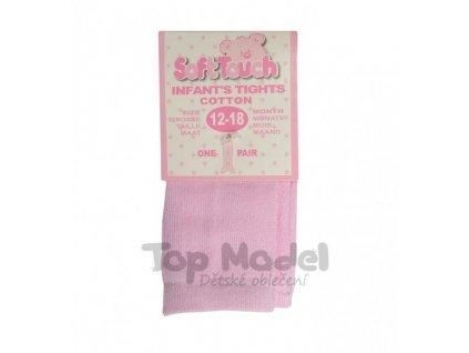 Dětské růžové punčocháče Soft Touch