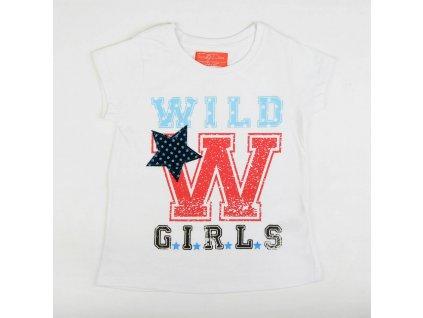 Dívčí tričko s krátkým rukávem Varsity bílé