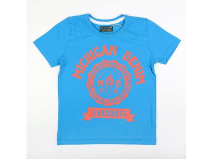 Chlapecké tričko s krátkým rukávem Denim modré