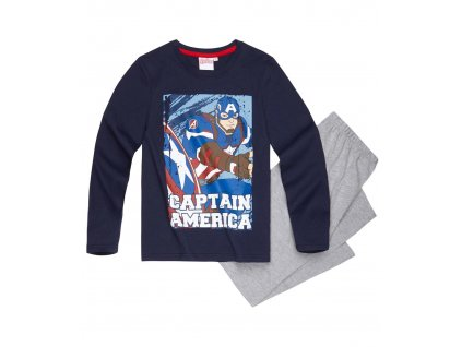 Chlapecké pyžamo s dlouhým rukávem Avengers Captain Amerika