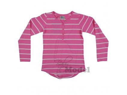 Dívčí tričko pruhované růžové Awesome04