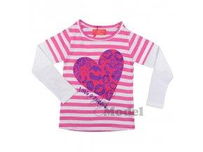 Dívčí tričko s dlouhým rukávem Kiss10 růžové
