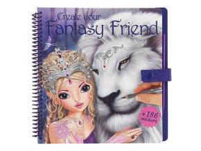 Omalovánky Fantasy Model Bílý lev, 186 samolepek