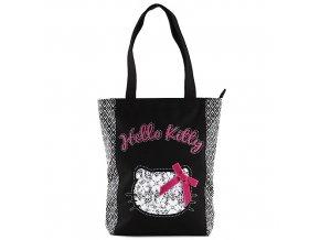 Nákupní taška Hello Kitty černo-bílá