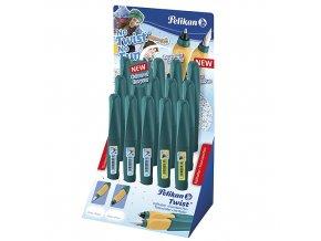 Inkoustová a kuličková pera Pelikan Inkoustové pero 6 ks, Bombičkové pero 9 ks