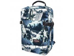 Cestovní batoh Eastpak Tmavě modrý, motiv palmy