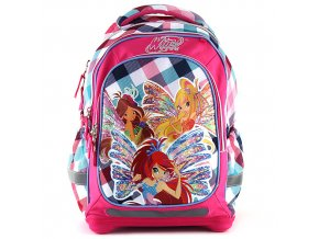 Školní batoh Winx Club kostkovaný